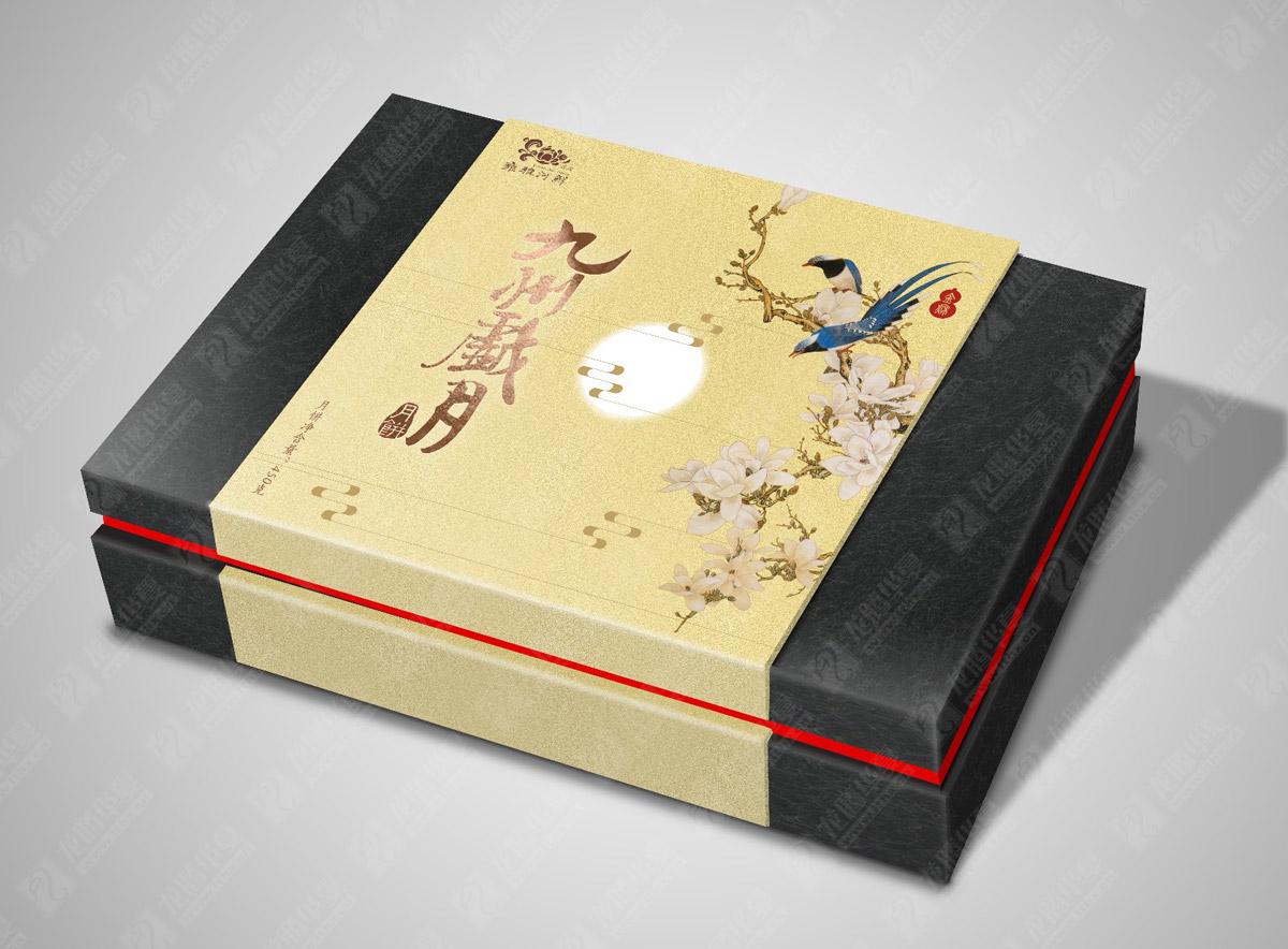 九州岁月月饼包装设计|成都月饼包装设计公司|月饼礼盒包装效果图