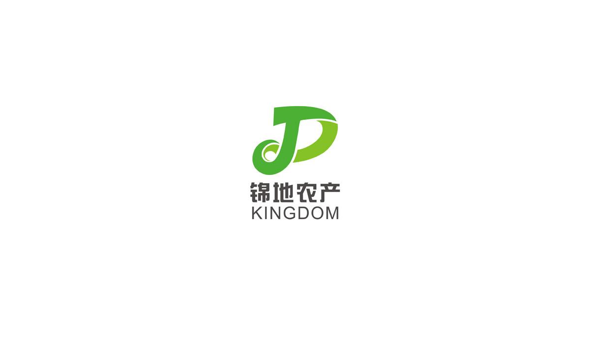 锦地农产LOGO标志设计|农产企业品牌形象设计|成都农产企业VI设计公司