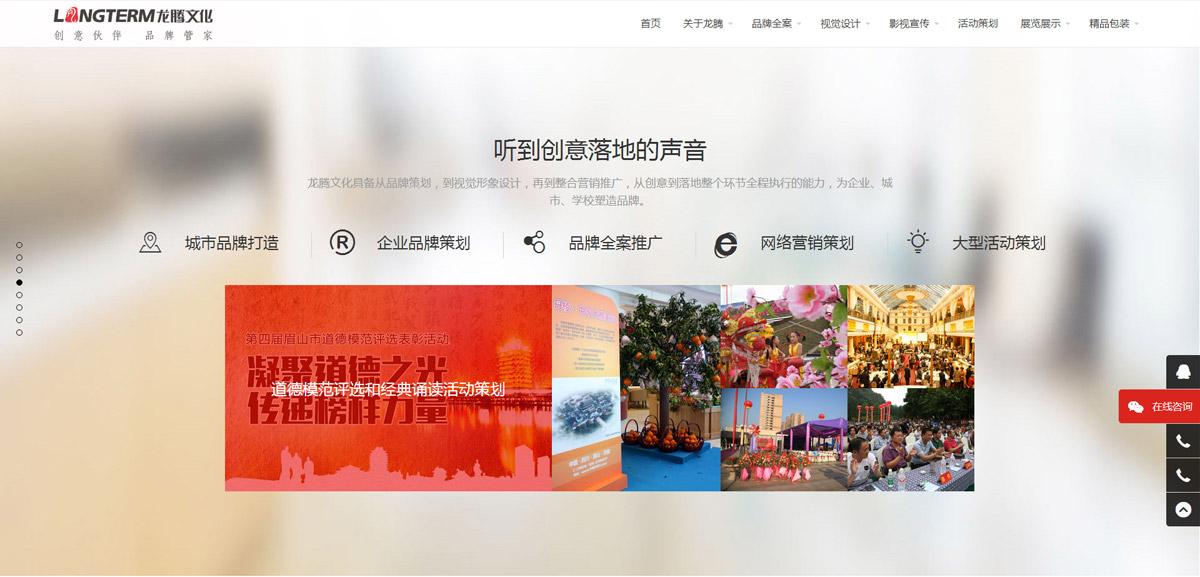 龙腾文化官网设计