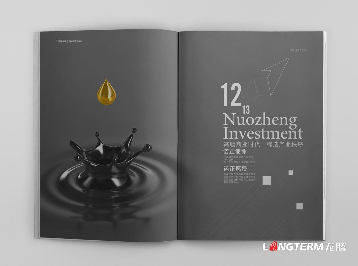 成都投资管理公司画册设计|四川诺正投资管理有限公司形象宣传册设计