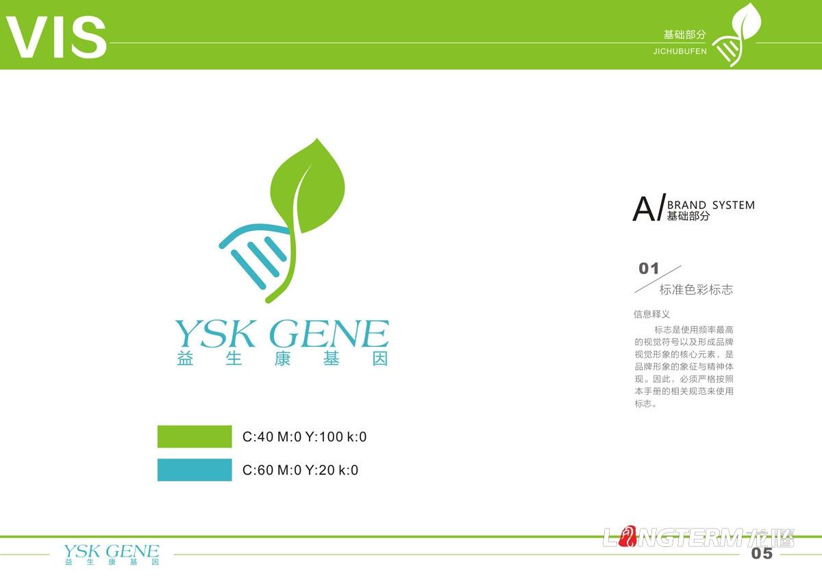 四川益生康基因工程有限公司品牌LOGO及VI形象设计 成都基因标志商标设计公司